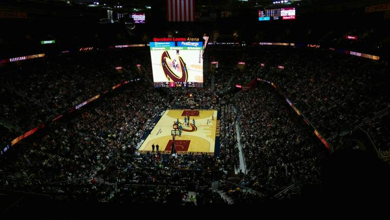 Seating view for Quicken Loans Arena Section 201 Row 10 Seat 7