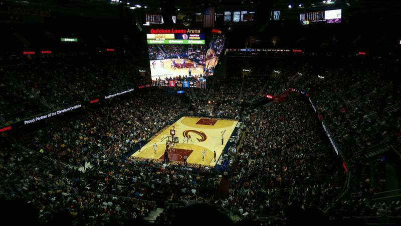 Seating view for Quicken Loans Arena Section 219 Row 4 Seat 2