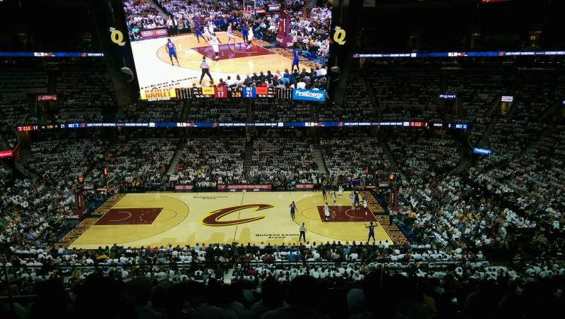 Seating view for Quicken Loans Arena Section Suite 235 Row 2 Seat 3