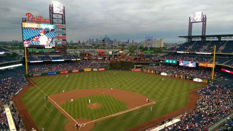 Seating view for Citizens Bank Park Section 419 Row 1 Seat 9