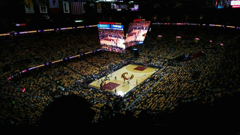 Seating view for Quicken Loans Arena Section 203 Row 12 Seat 16