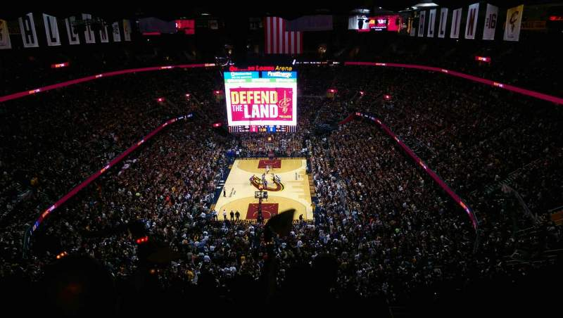Seating view for Quicken Loans Arena Section 200 Row 14 Seat 19