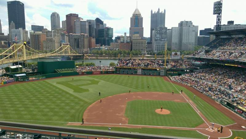 Seating view for PNC Park Section 322 Row G Seat 13