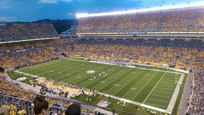 Seating view for Heinz Field Section 539 Row H Seat 5