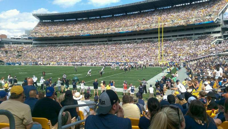 Seating view for Heinz Field Section 140 Row J Seat 21
