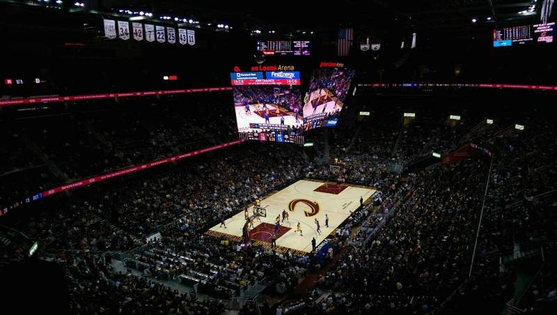 Seating view for Quicken Loans Arena Section 220 Row 6 Seat 2