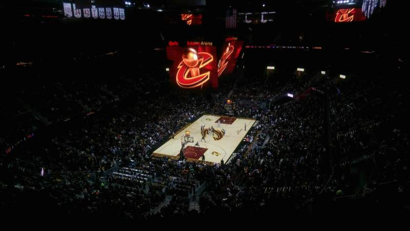Seating view for Quicken Loans Arena Section 219 Row 11 Seat 13