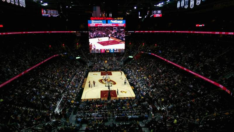 Seating view for Quicken Loans Arena Section 217 Row 2 Seat 4