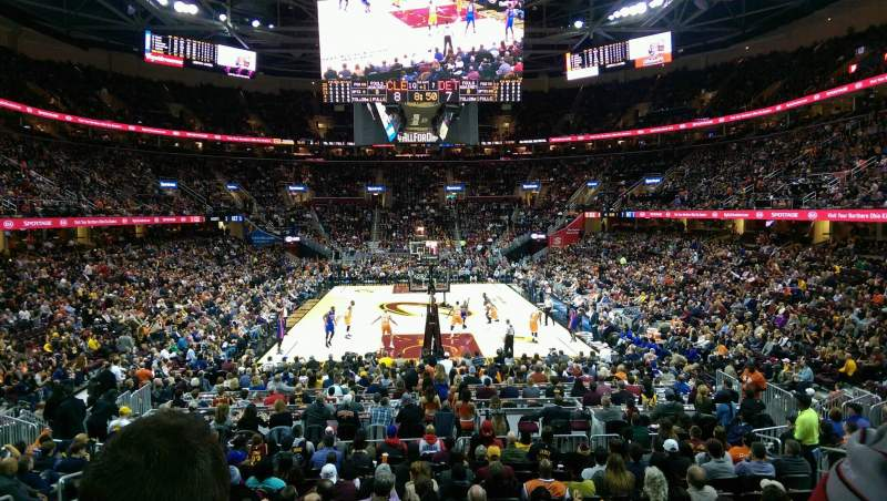 Seating view for Quicken Loans Arena Section 117 Row 14 Seat 8