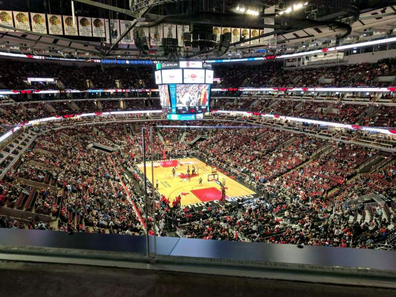 Seating view for United Center Section 328 Row 1 Seat 11
