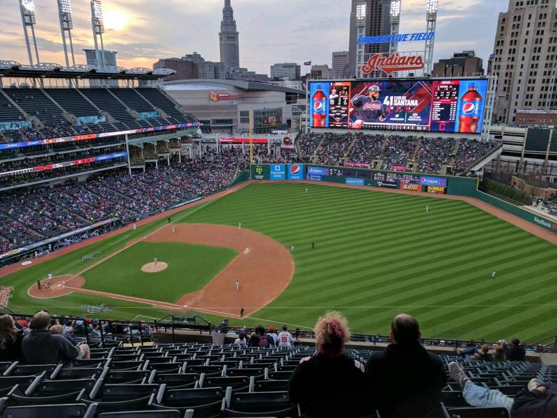 Seating view for Progressive Field Section 533 Row V Seat 16