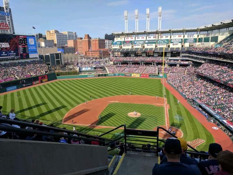 Progressive Field, section: 558, row: F, seat: 18