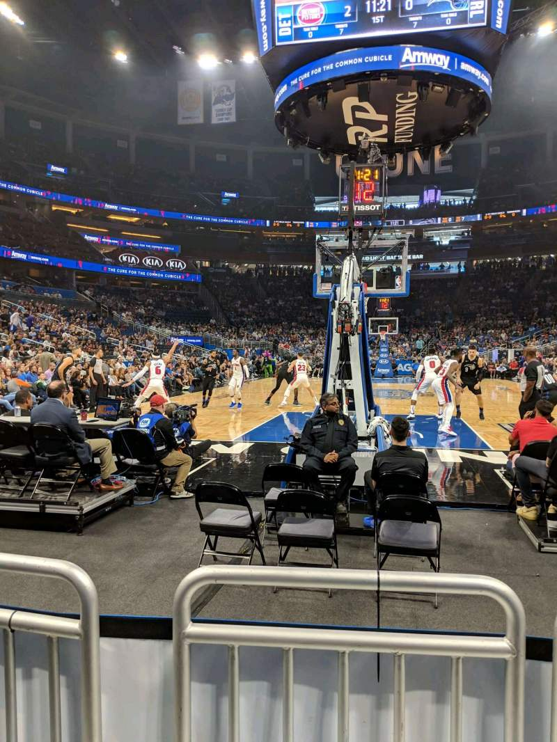 Seating view for Amway Center Section 110 Row B Seat 3