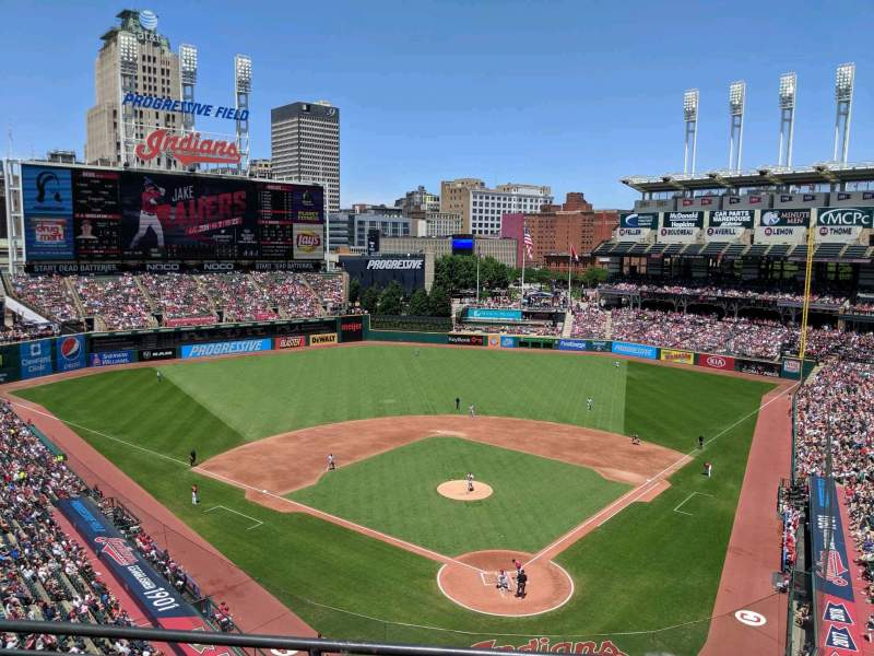Seating view for Progressive Field Section 455 Row C Seat 11