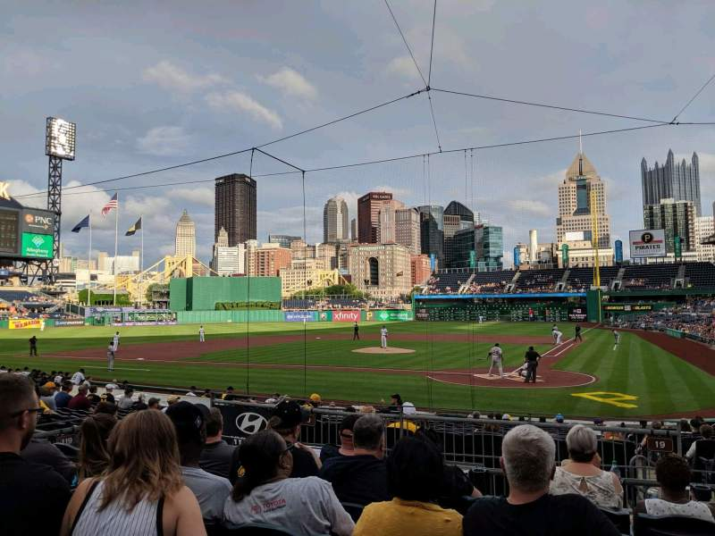 Seating view for PNC Park Section 119 Row F Seat 10