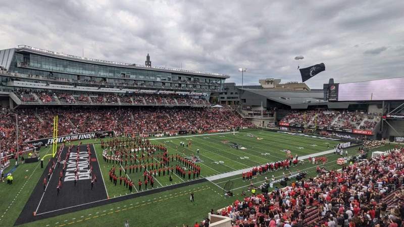Seating view for Nippert Stadium Section 211 Row 1 Seat 11
