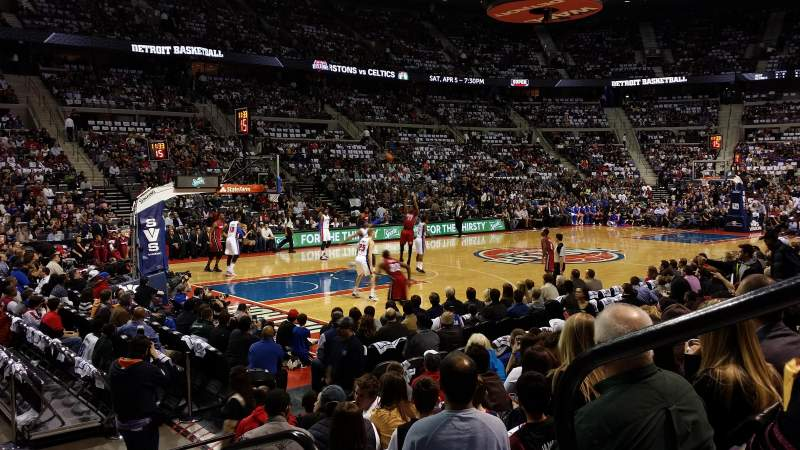 Seating view for The Palace of Auburn Hills Section 103 Row b Seat 1