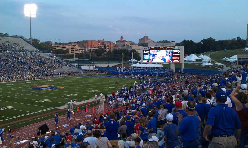 Seating view for University of Kansas Memorial Stadium Section 10 Row 27 Seat 10