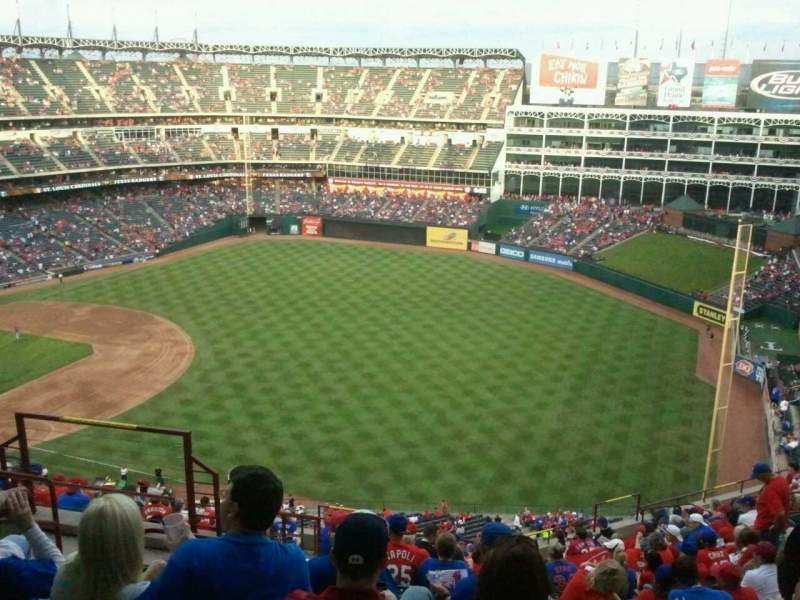 Seating view for Globe Life Park in Arlington Section 340 Row 18 Seat 6