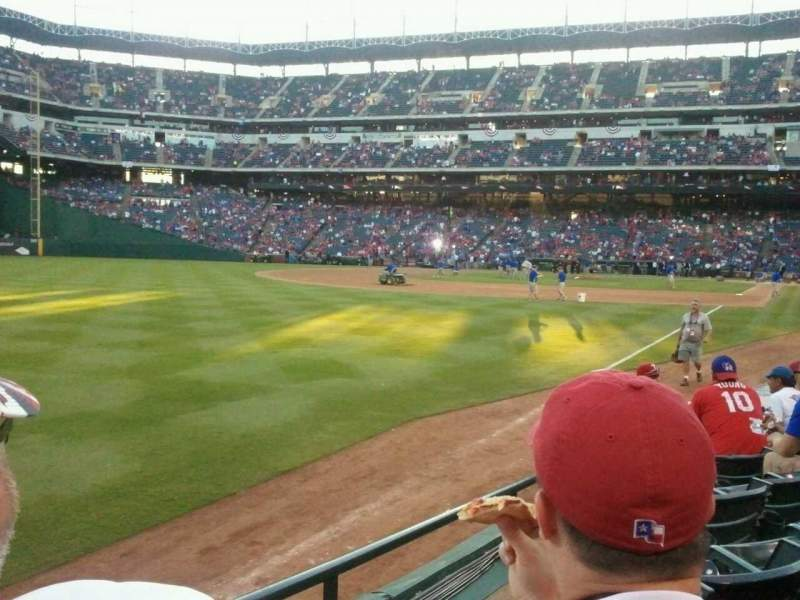 Seating view for Globe Life Park in Arlington Section 12 Row 6 Seat 1