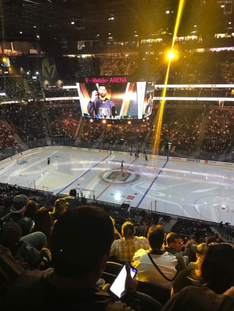 Seating view for T-Mobile Arena Section 207 Row J Seat 7