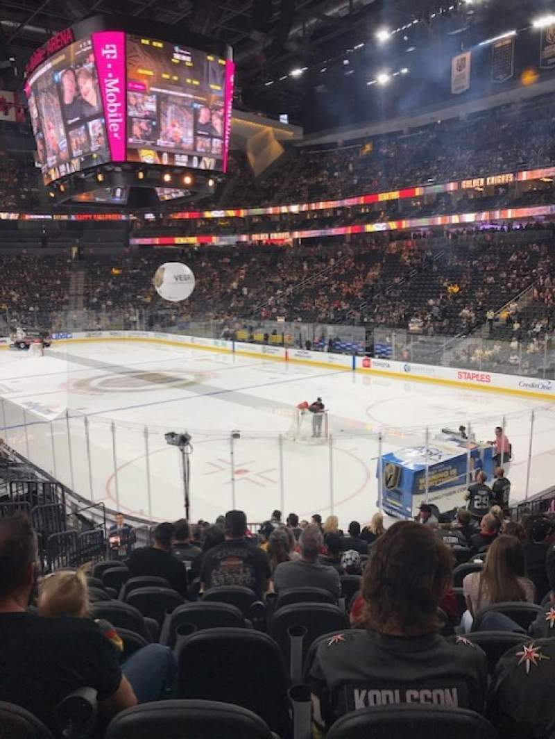 Seating view for T-Mobile Arena Section 19 Row Q Seat 7
