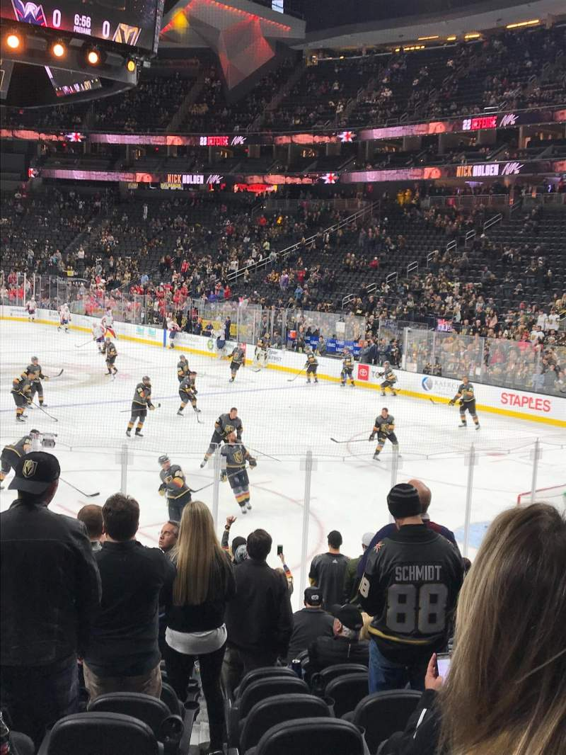 Seating view for T-Mobile Arena Section 19 Row M Seat 9