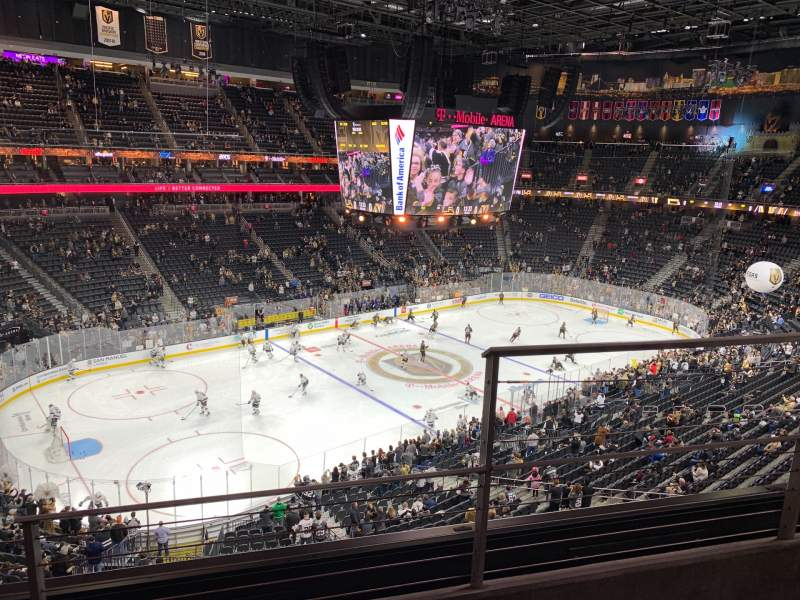 Seating view for T-Mobile Arena Section 219 Row B Seat 15