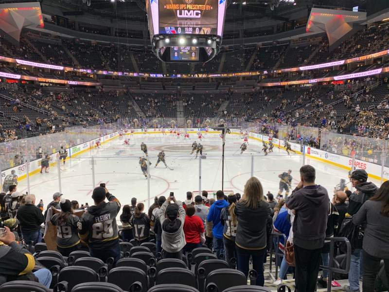 Seating view for T-Mobile Arena Section 20 Row K