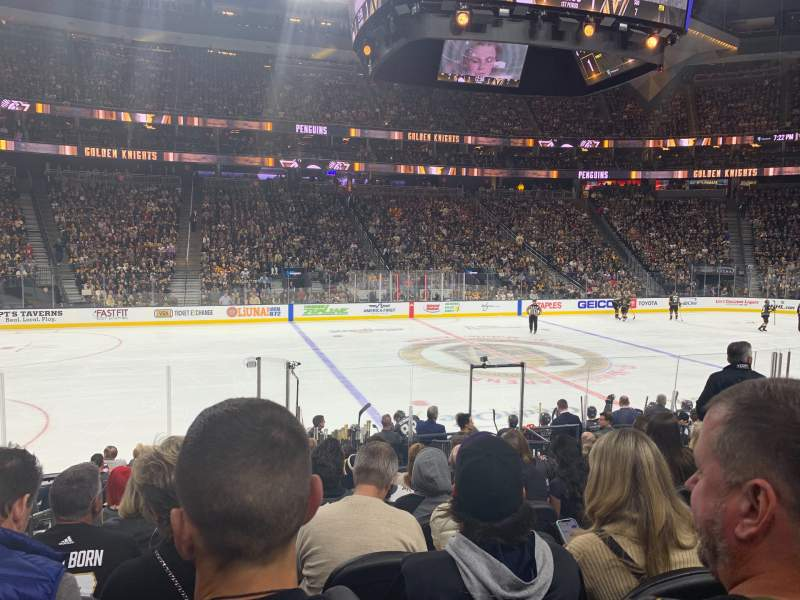 Seating view for T-Mobile Arena Section 5 Row J Seat 2