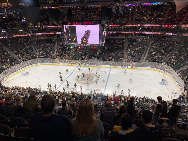 Seating view for T-Mobile Arena Section 206 Row K Seat 15