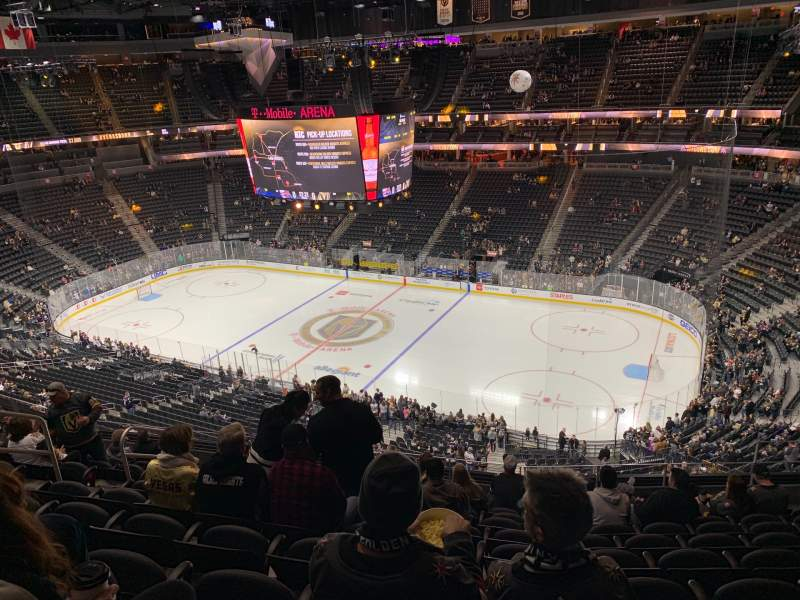Seating view for T-Mobile Arena Section 226 Row K Seat 8