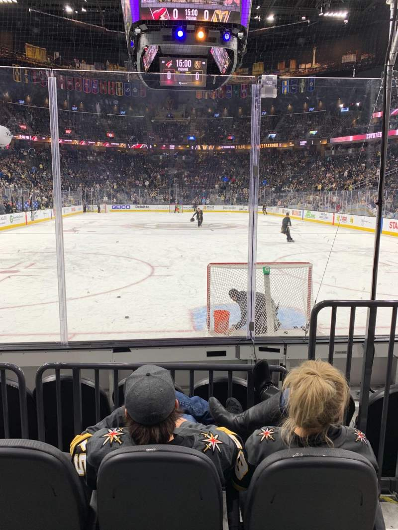 Seating view for T-Mobile Arena Section 10 Row C Seat 9