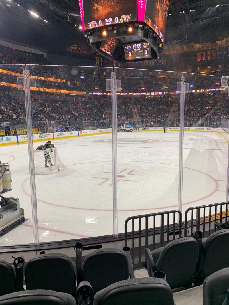 Seating view for T-Mobile Arena Section 12 Row D