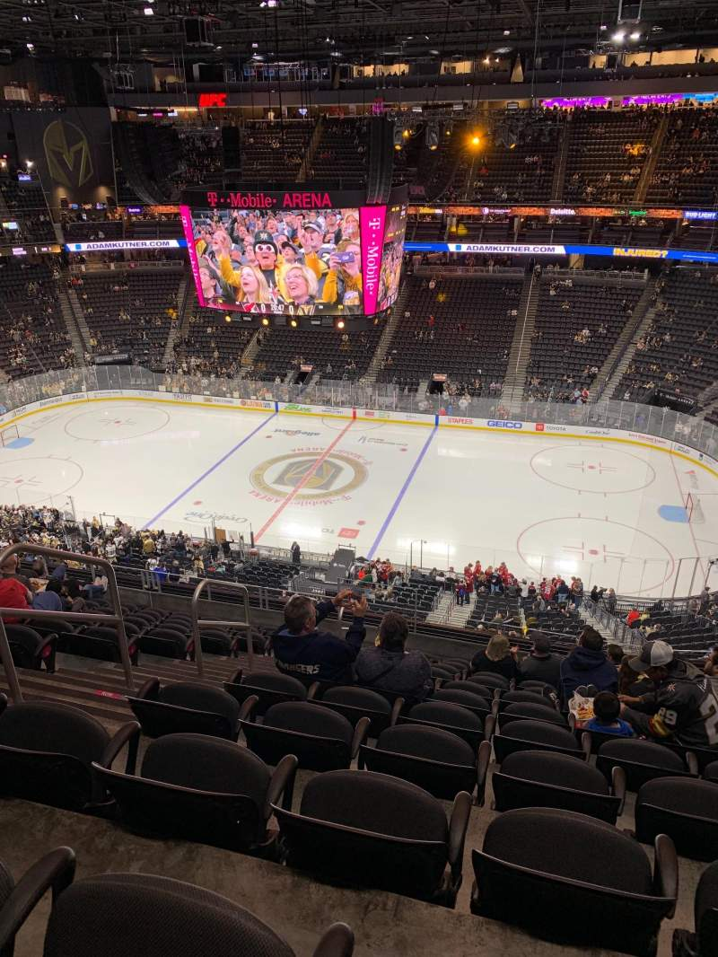 Seating view for T-Mobile Arena Section 207 Row L Seat 5