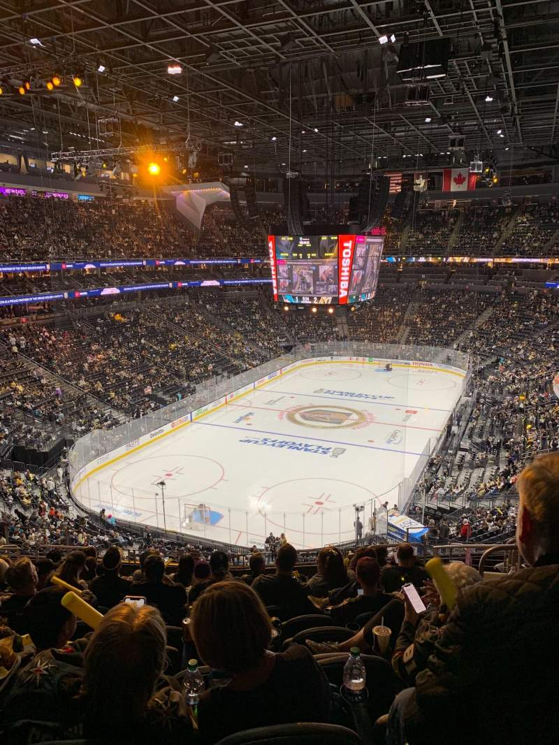 Seating view for T-Mobile Arena Section 103 Row M Seat 10