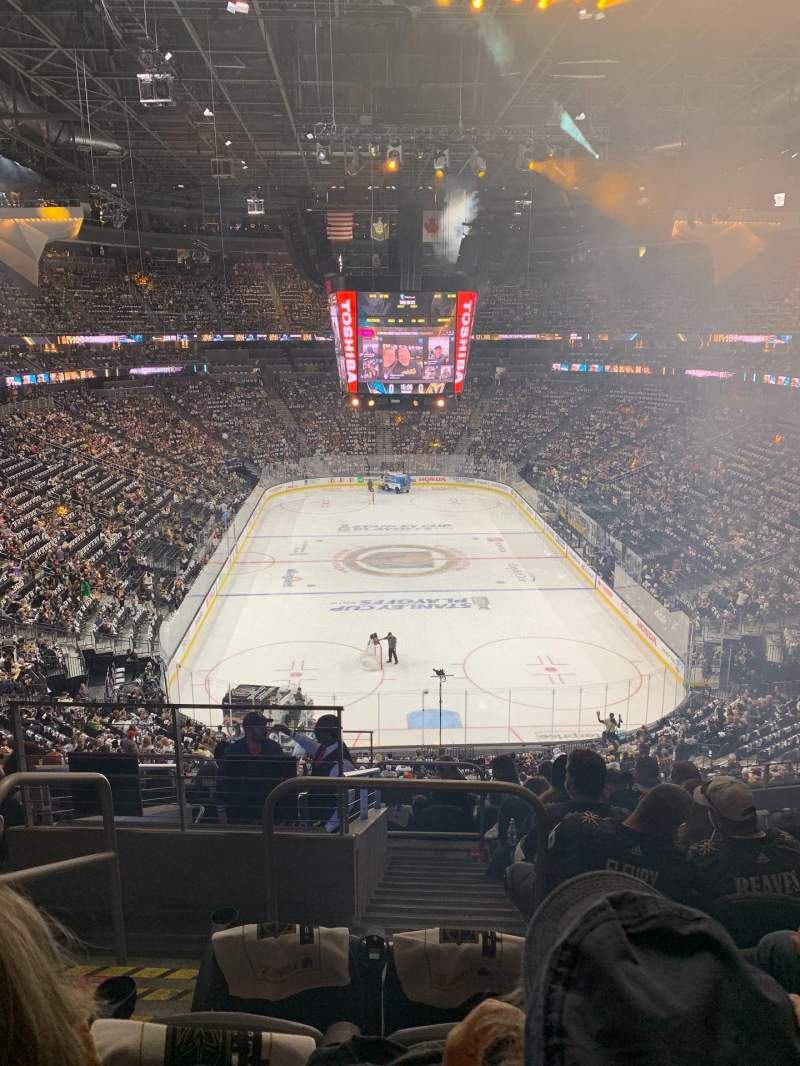 Seating view for T-Mobile Arena Section 101 Row K Seat 2