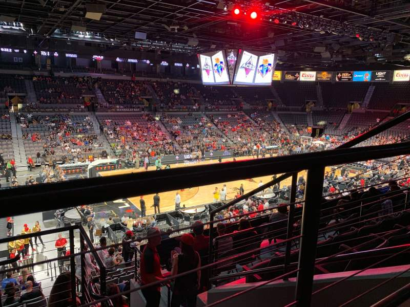 Seating view for Michelob Ultra Arena Section 205 Row E Seat 2
