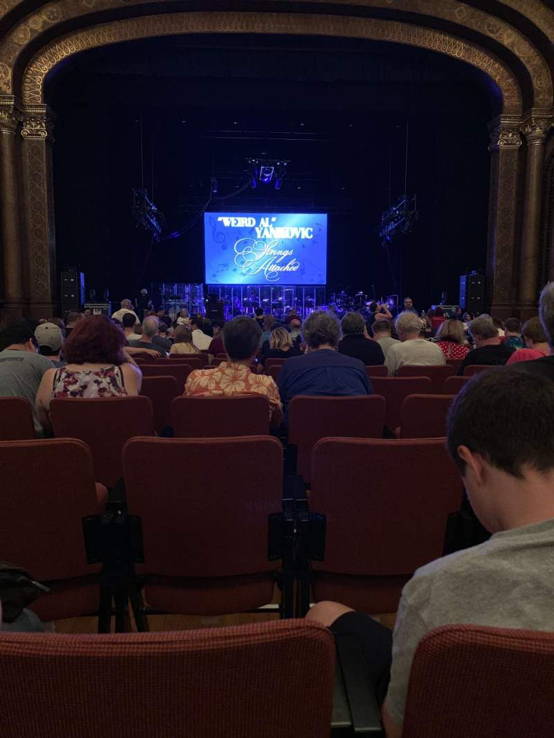 Seating view for Sacramento Memorial Auditorium Section Floor Row T Seat 109
