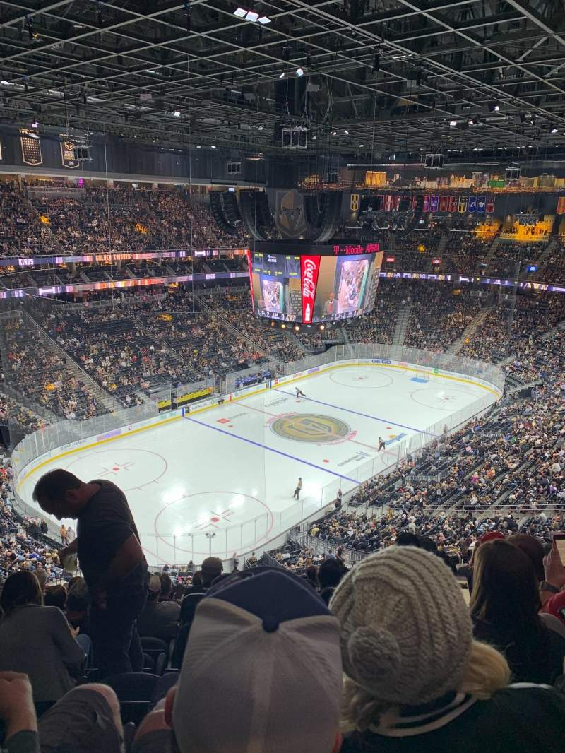 Seating view for T-Mobile Arena Section 218 Row M Seat 9