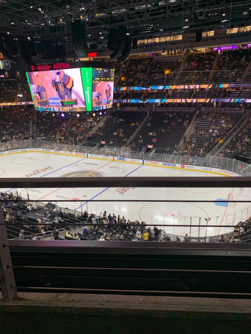 Seating view for T-Mobile Arena Section 208 Row A Seat 13
