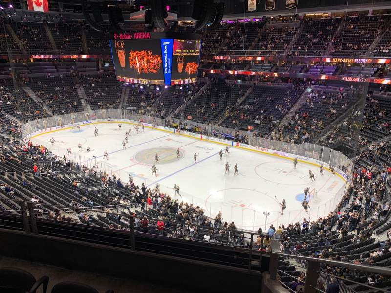 Seating view for T-Mobile Arena Section 227 Row C Seat 8