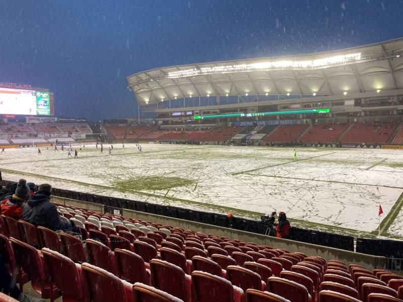 Seating view for Rio Tinto Stadium Section 34 Row M Seat 4