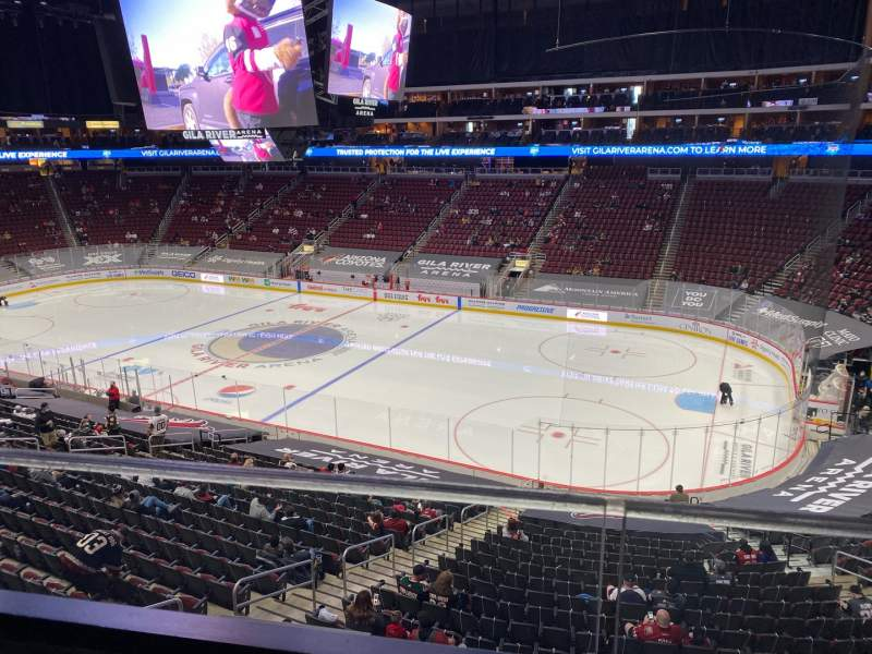 Seating view for Gila River Arena Section 1102B