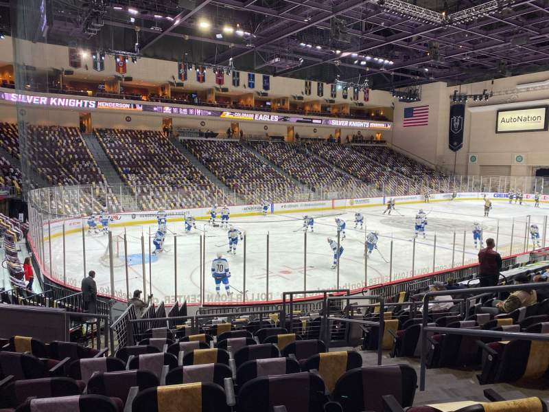 Seating view for Orleans Arena Section 107 Row H Seat 3