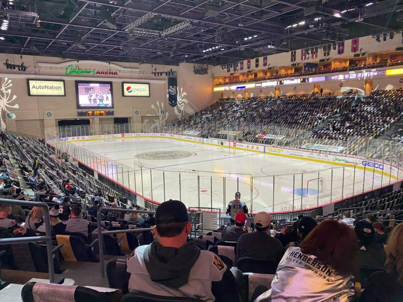 Seating view for Orleans Arena Section 112 Row N Seat 14