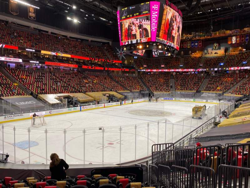 Seating view for T-Mobile Arena Section 12 Row N Seat 16