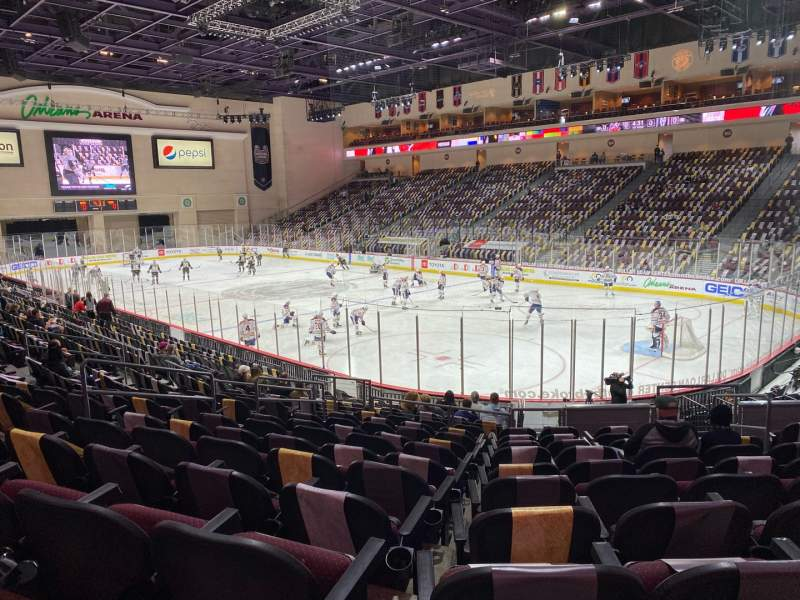 Seating view for Orleans Arena Section 113 Row L Seat 7