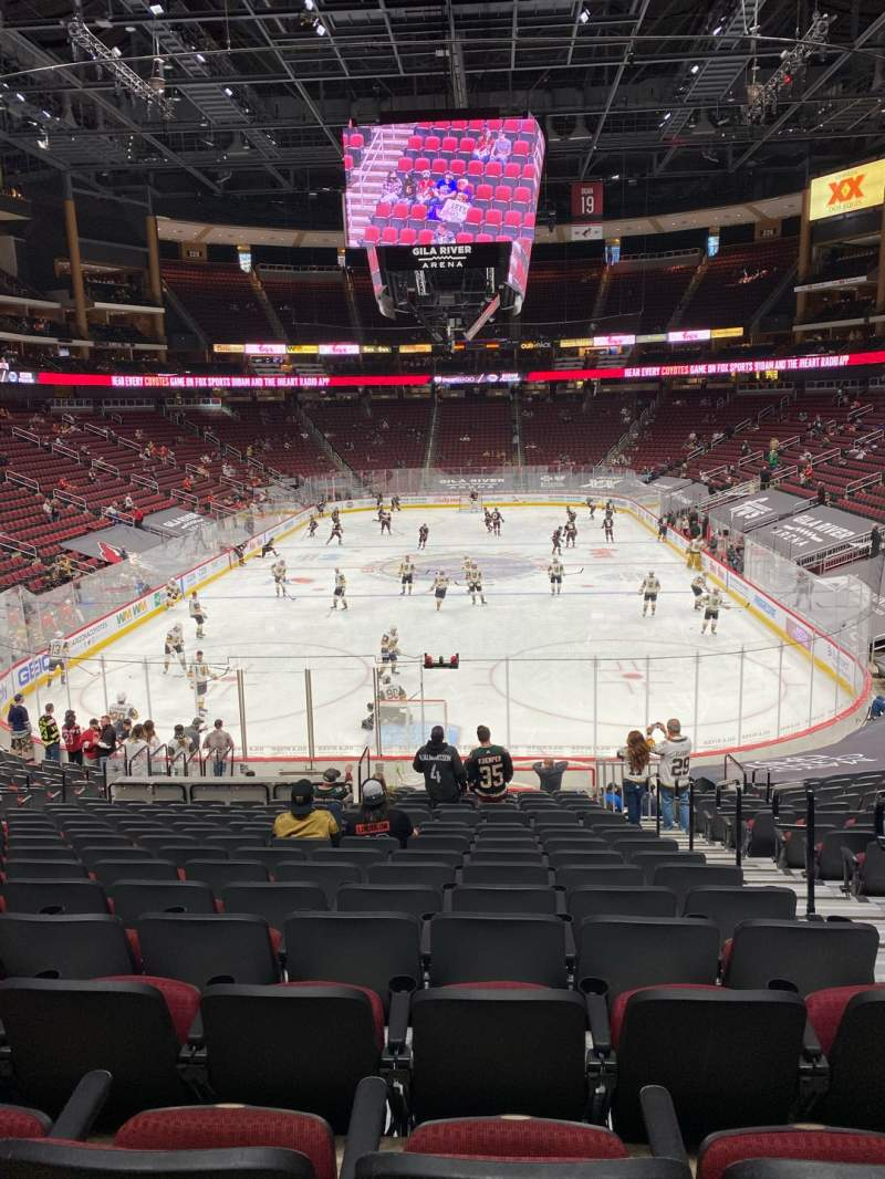 Seating view for Gila River Arena Section 106 Row V Seat 3