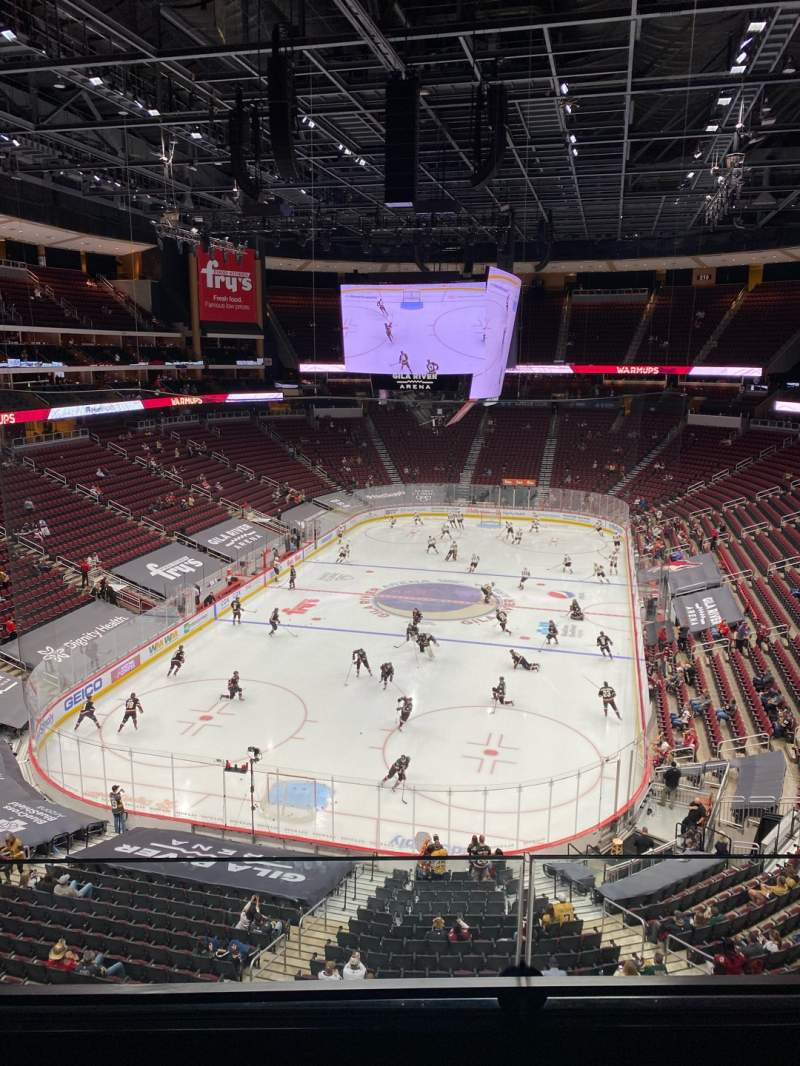 Seating view for Gila River Arena Section 222 Row B Seat 3